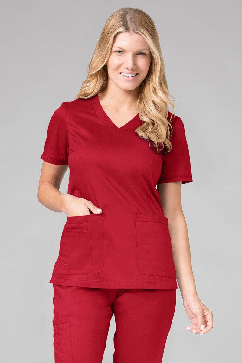 Bluza damska Maevn Blossom (elastic) czerwona