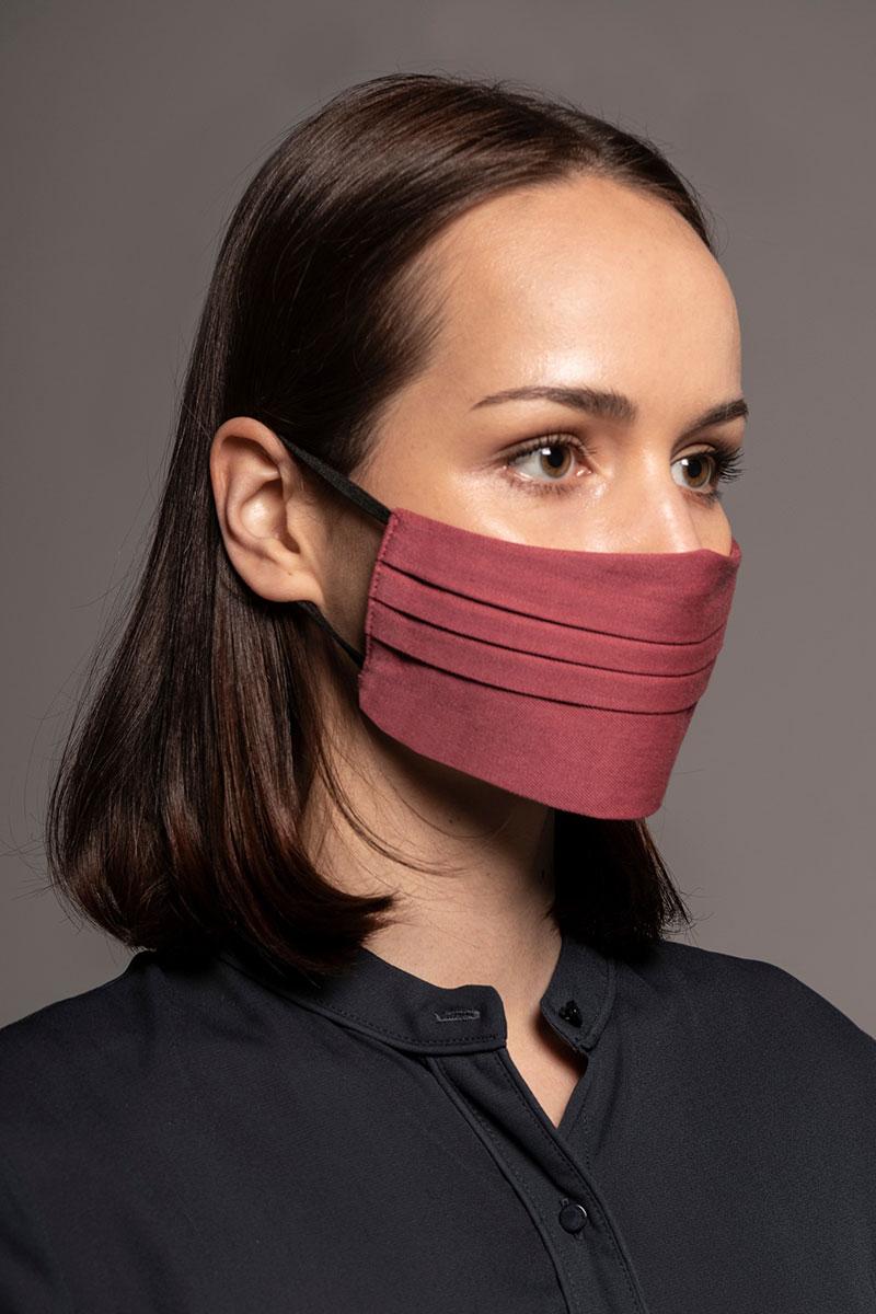 Maska ochronna Canvas, 2-warstwowa (100% bawełna), unisex, różowa