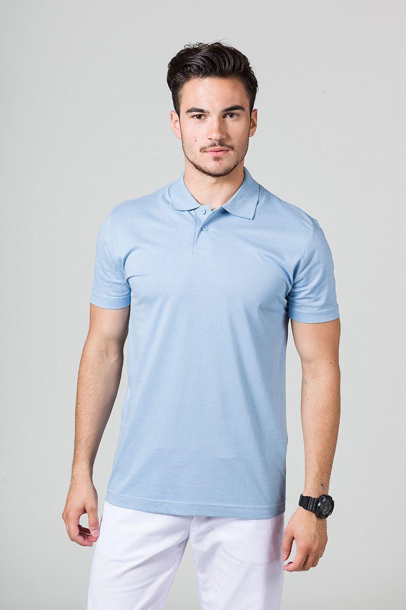Koszulka męska Polo niebieska