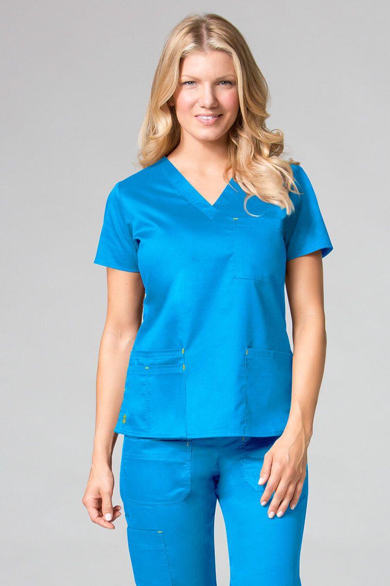 Bluza damska Maevn Blossom (elastic) niebieska