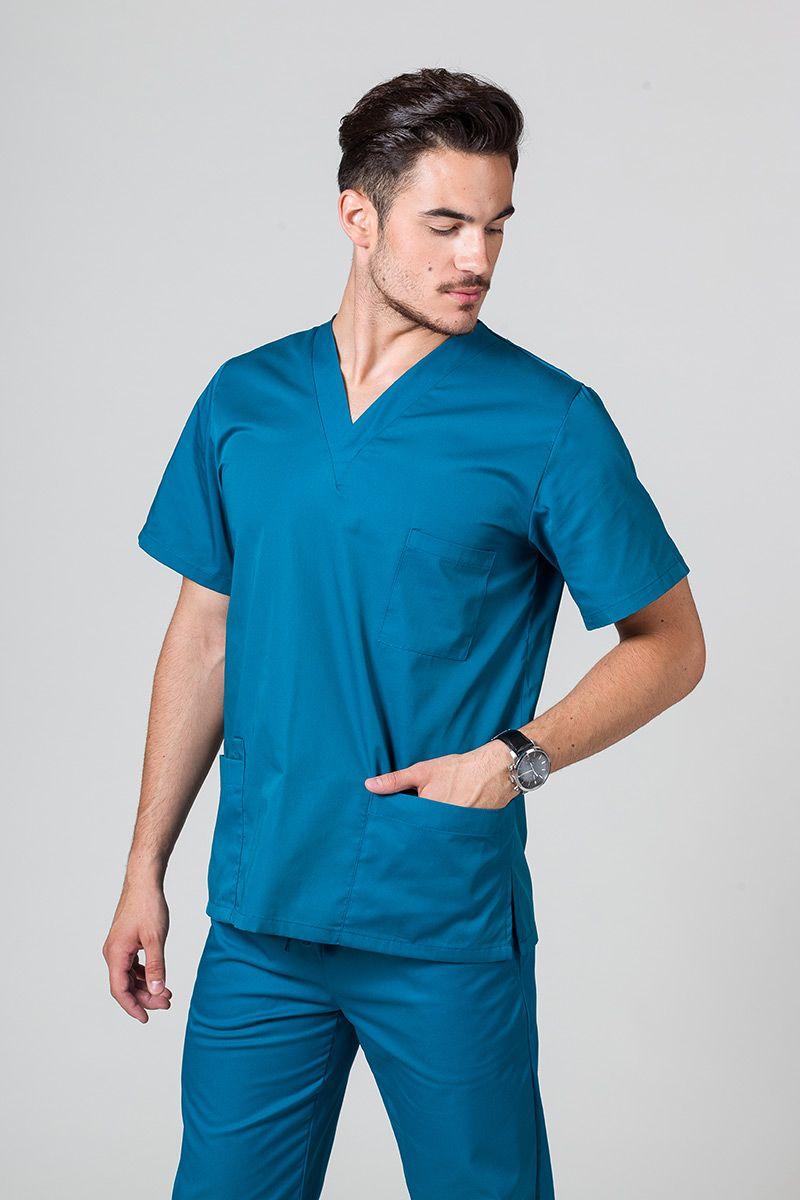 Bluza medyczna uniwersalna Sunrise Uniforms karaibski błękit