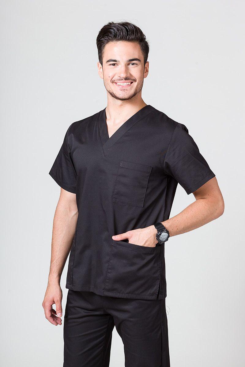 Bluza medyczna uniwersalna Sunrise Uniforms czarna