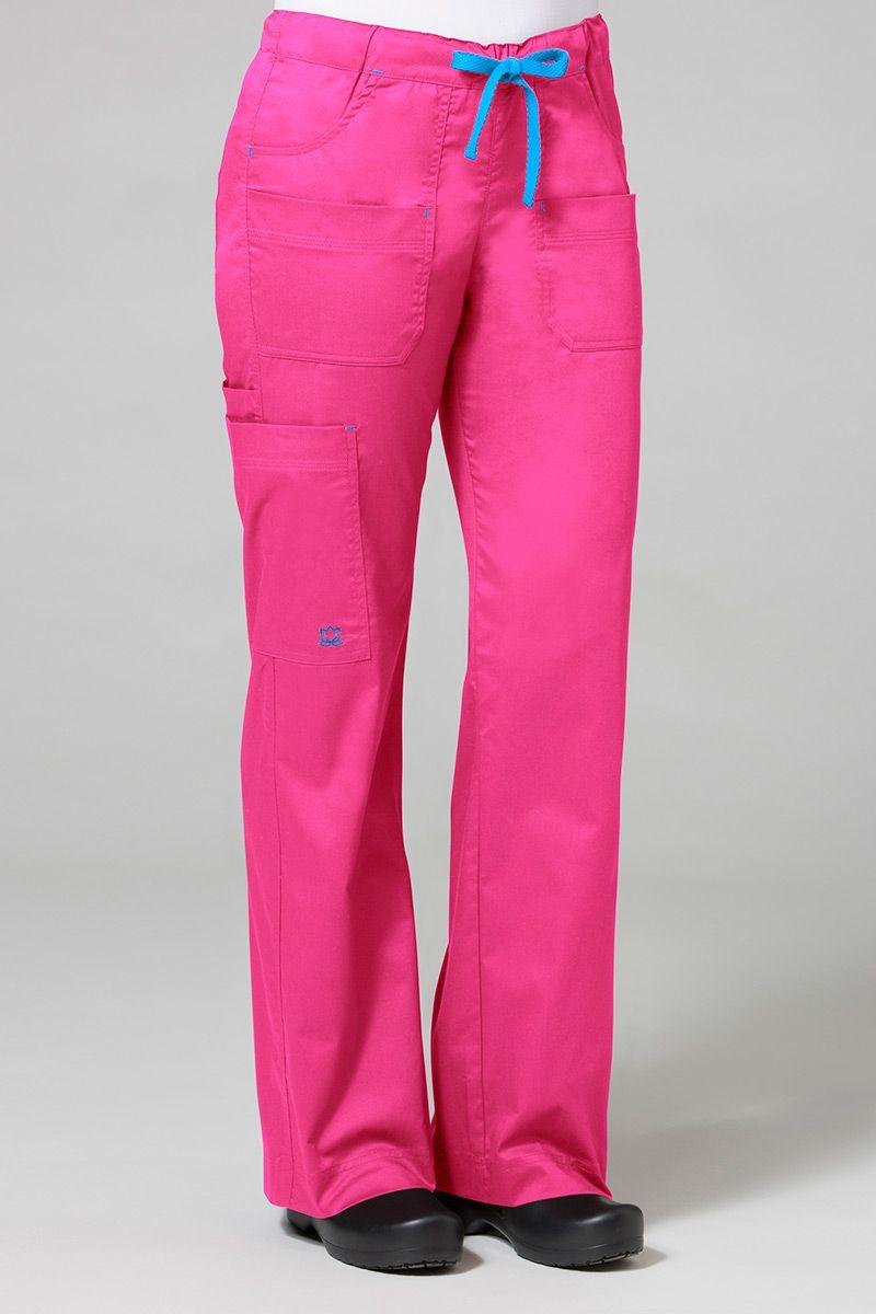 Spodnie medyczne damskie Maevn Blossom (elastic) różowe