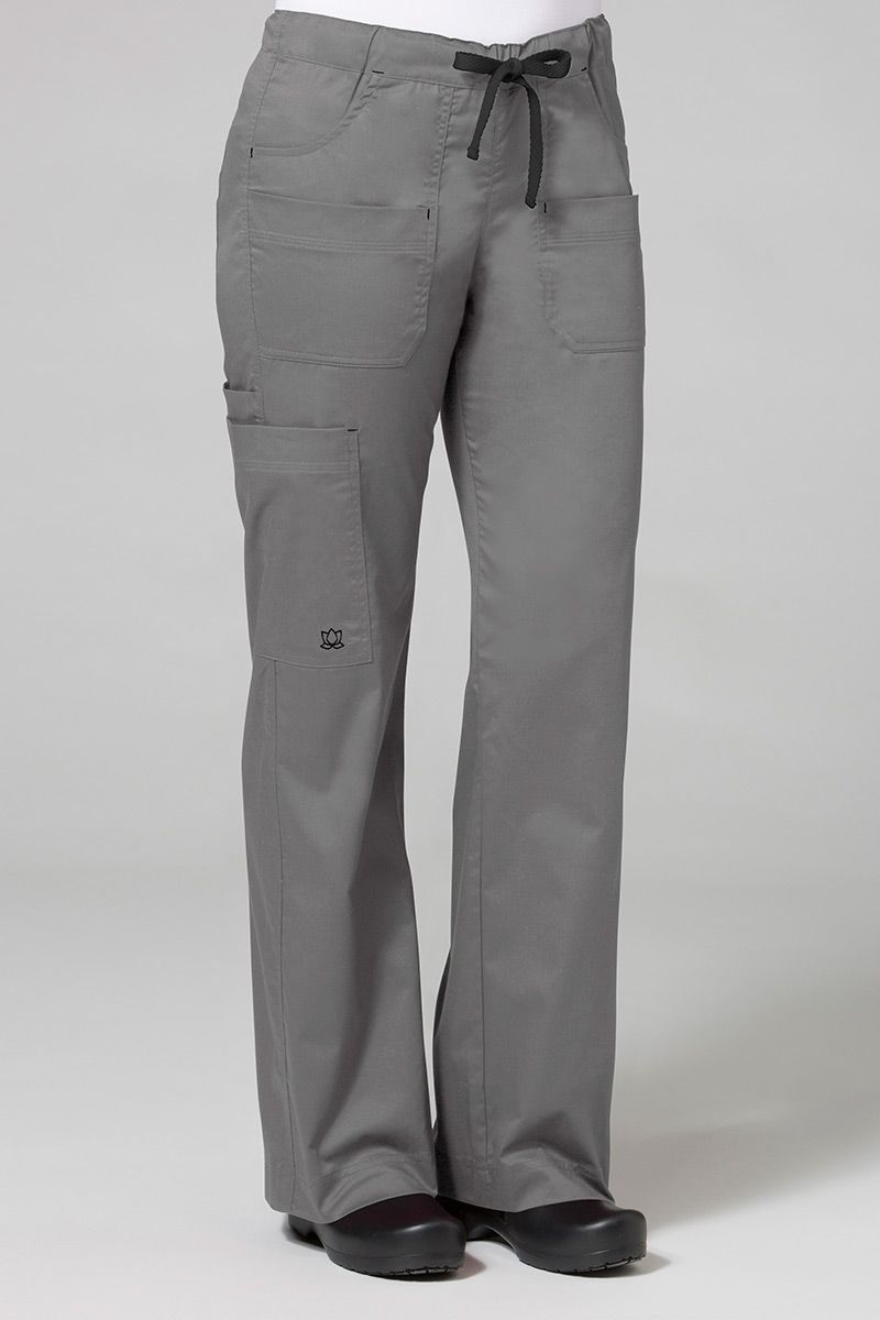 Spodnie medyczne damskie Maevn Blossom (elastic) szare
