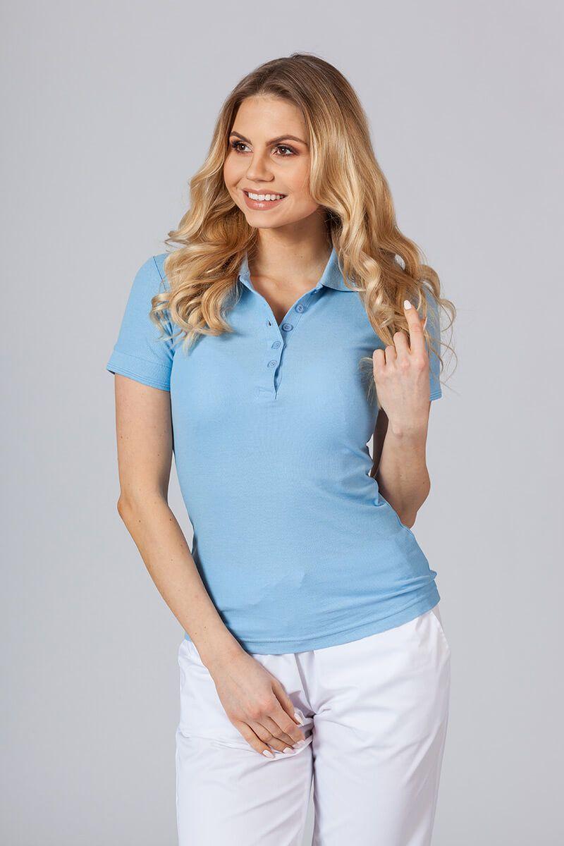 Koszulka damska Polo niebieska