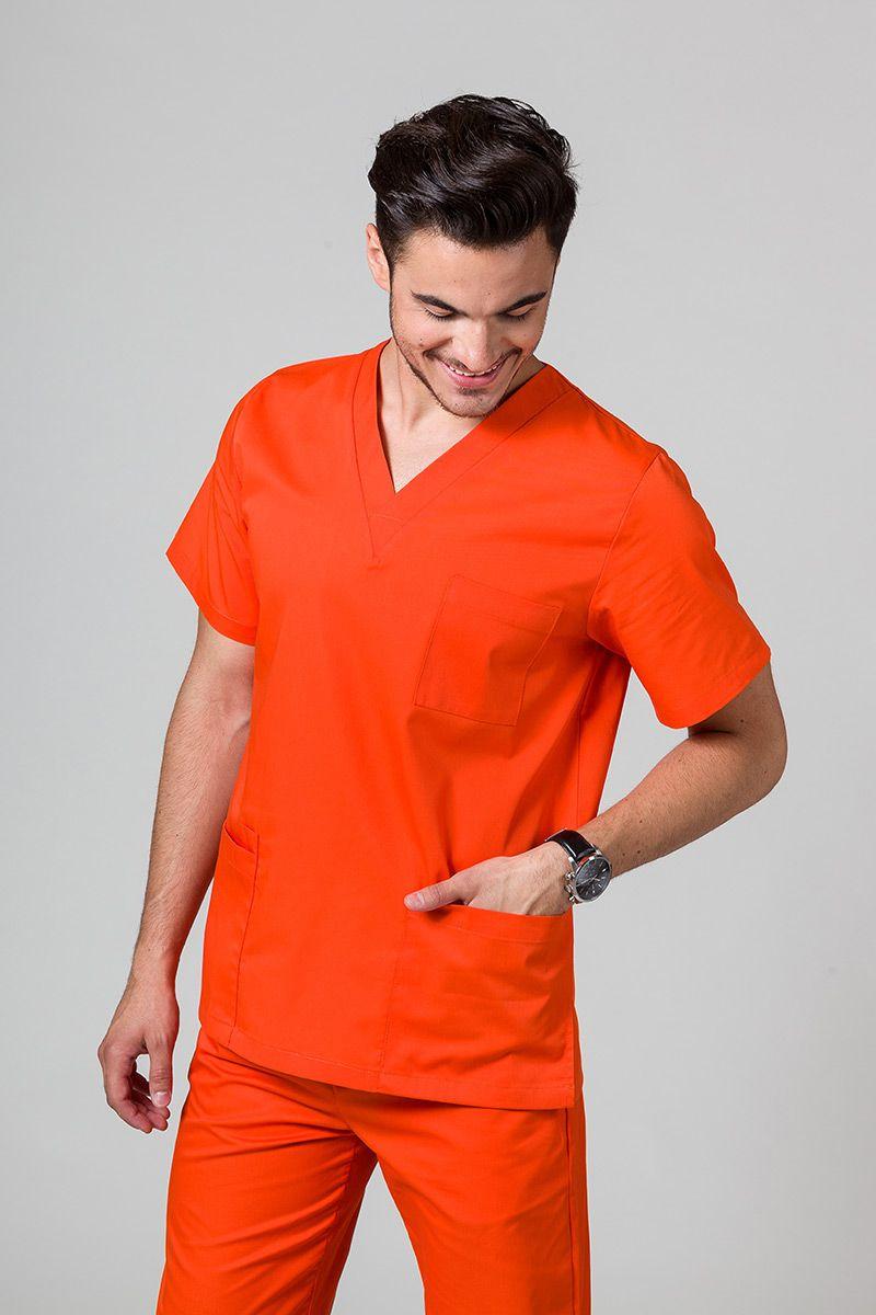 Bluza medyczna uniwersalna Sunrise Uniforms pomarańczowa