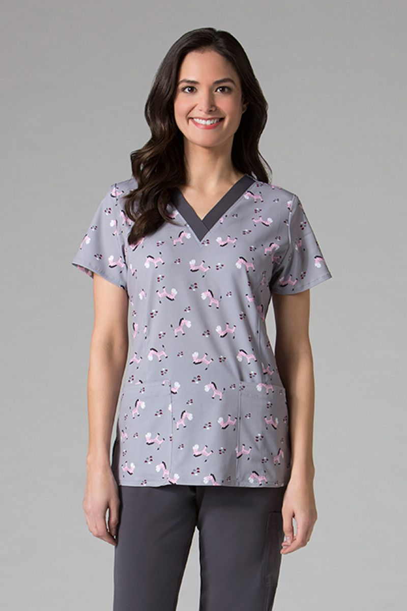 Kolorowa bluza damska Maevn Prints wesołe zebry