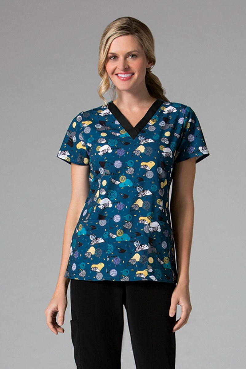 Kolorowa bluza damska Maevn Prints kolorowe jeże