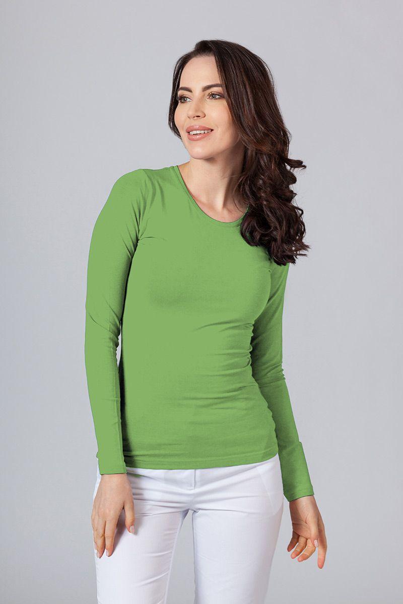 Koszulka damska z długim rękawem zielona