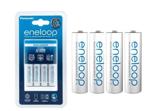 Ładowarka Panasonic Eneloop + 4x akumulatorki