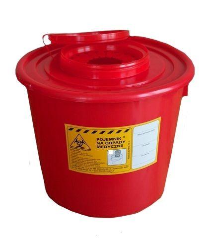 Pojemnik na odpady medyczne, materiał skażony - 5 litrów