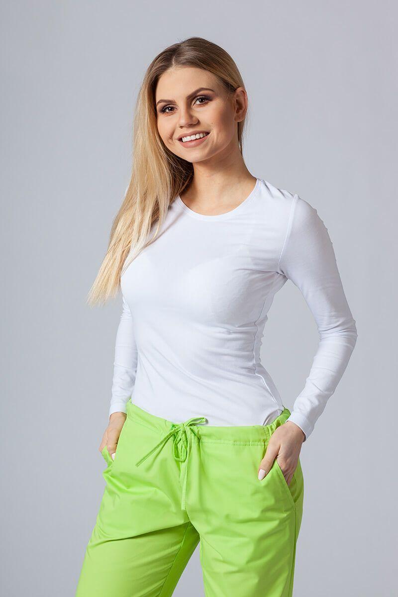 Koszulka damska z długim rękawem biała