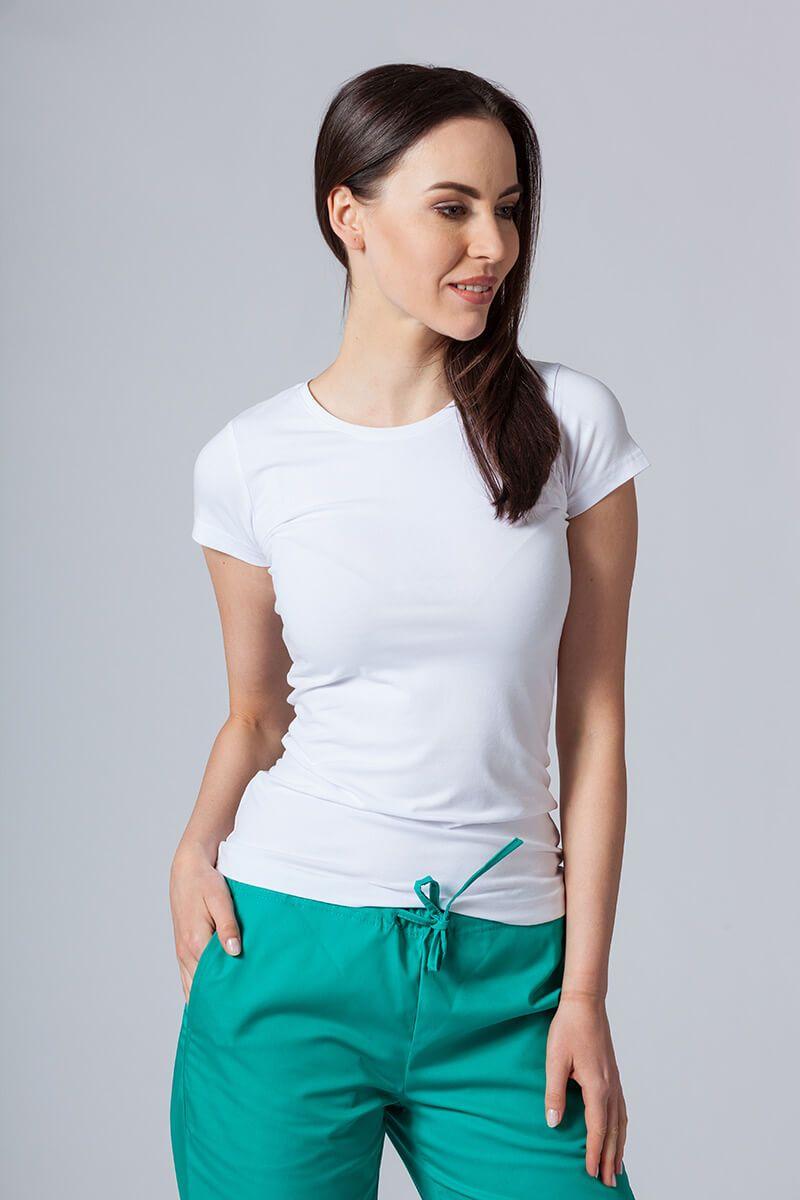Koszulka damska z krótkim rękawem biała