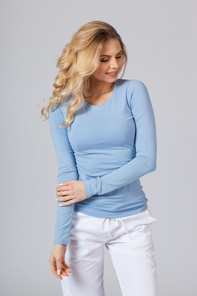 Koszulka damska z długim rękawem niebieska