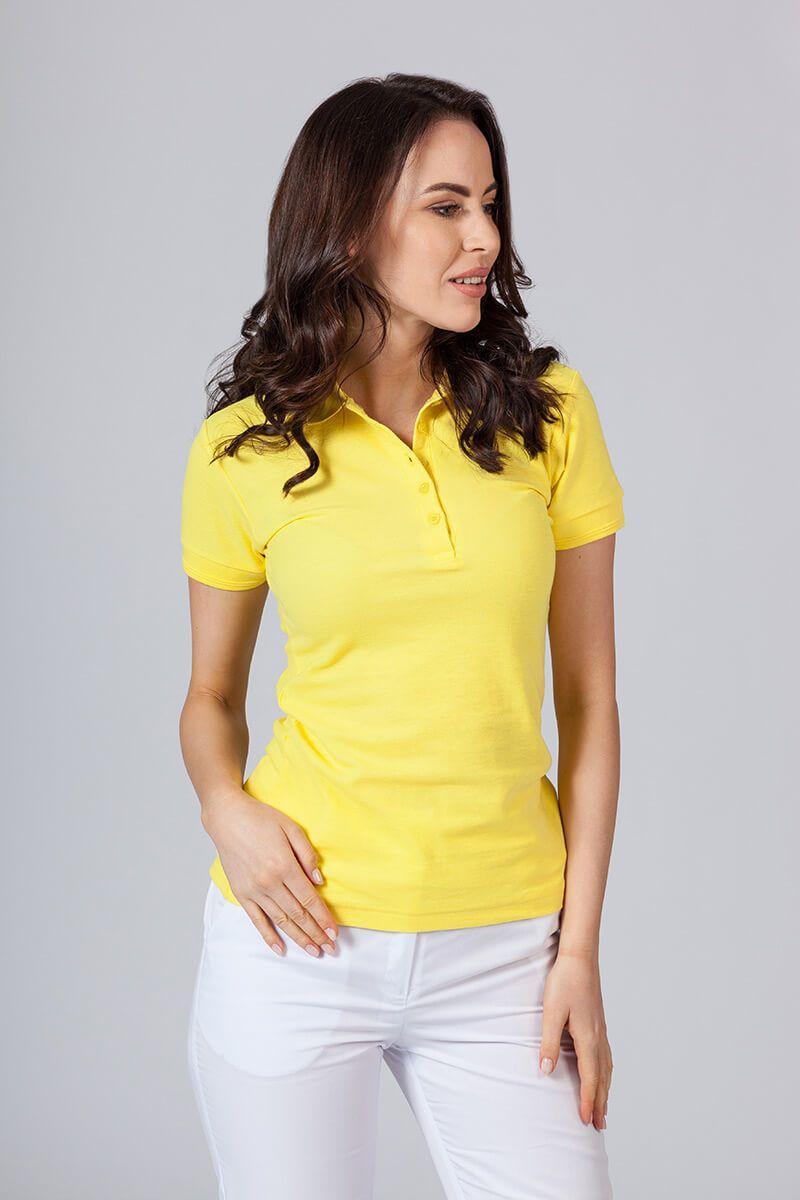 Koszulka damska Polo żółta