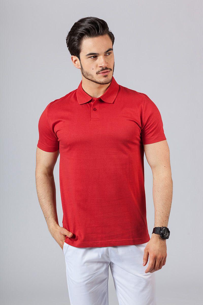 Koszulka męska Polo czerwona