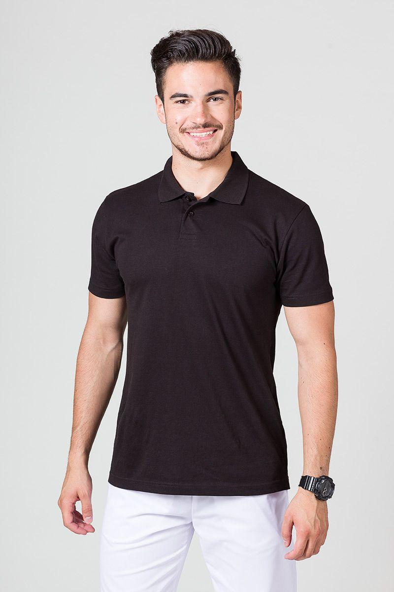 Koszulka męska Polo czarna