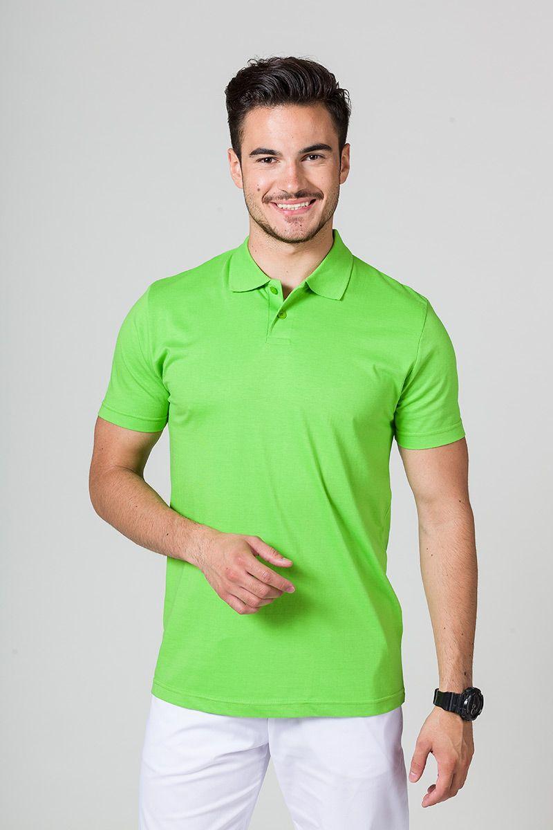 Koszulka męska Polo jasnozielona