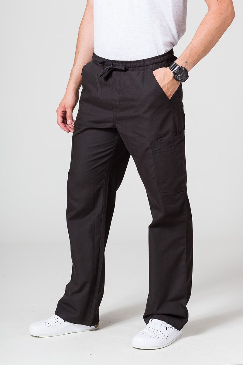 Spodnie męskie Maevn Red Panda Cargo (6 kieszeni) czarne
