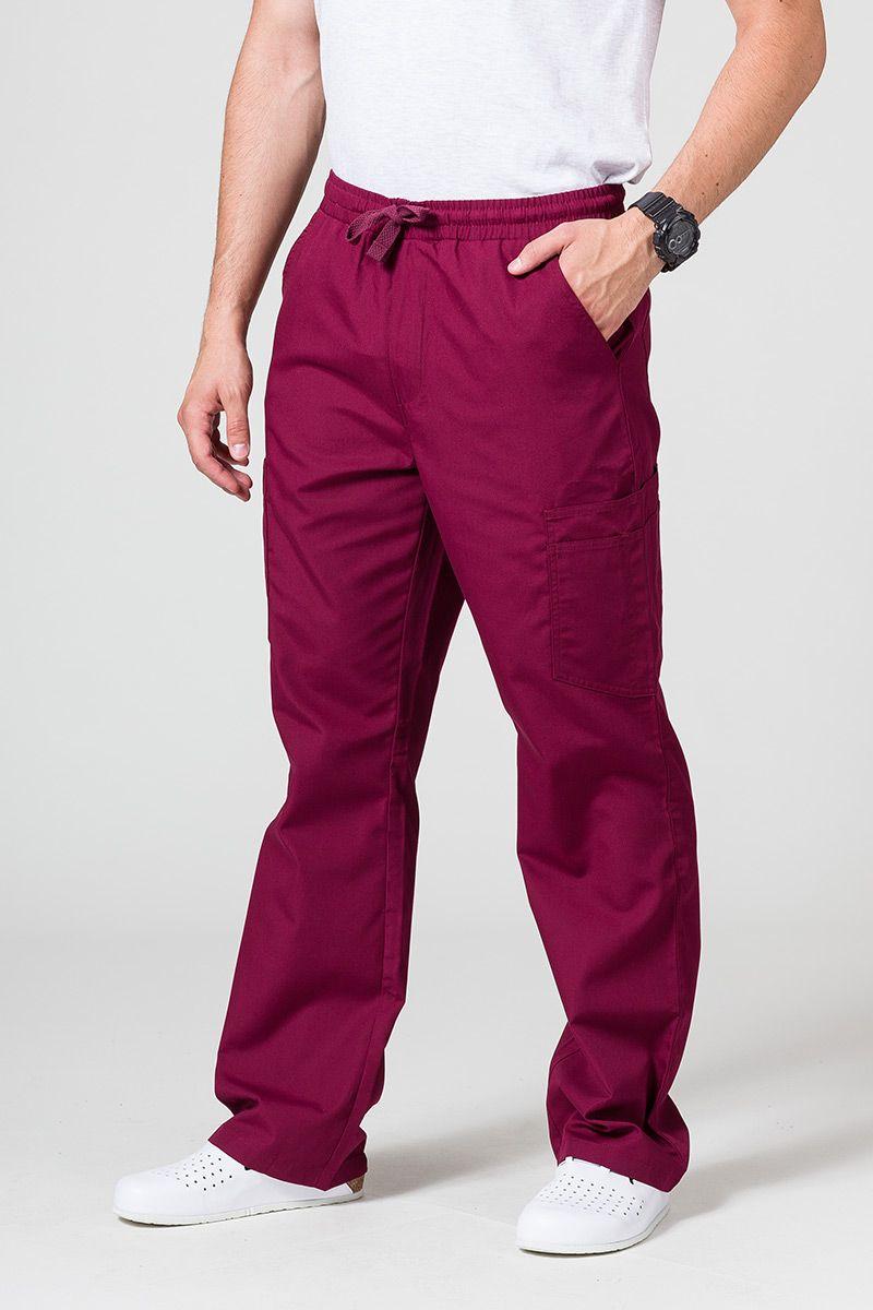 Spodnie męskie Maevn Red Panda Cargo (6 kieszeni) wiśniowe