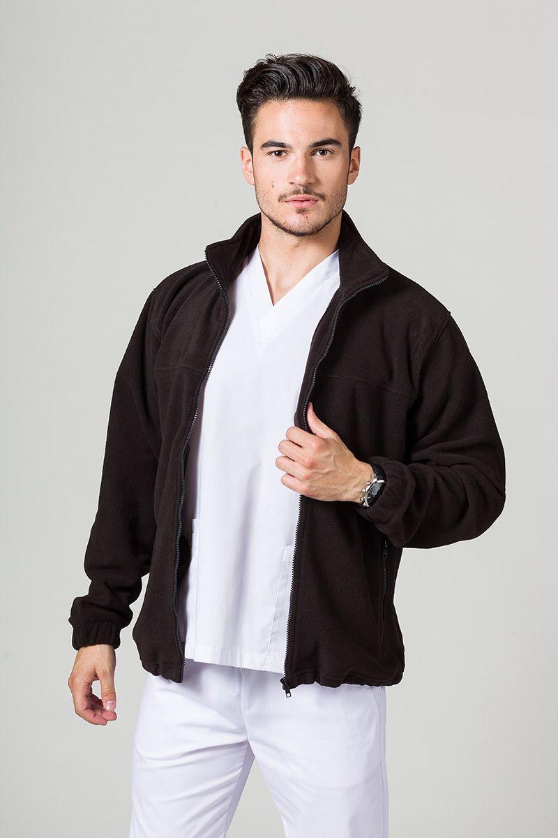Bluza polarowa męska czarna