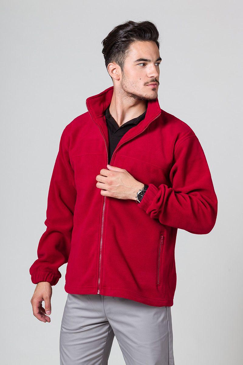 Bluza polarowa męska czerwona