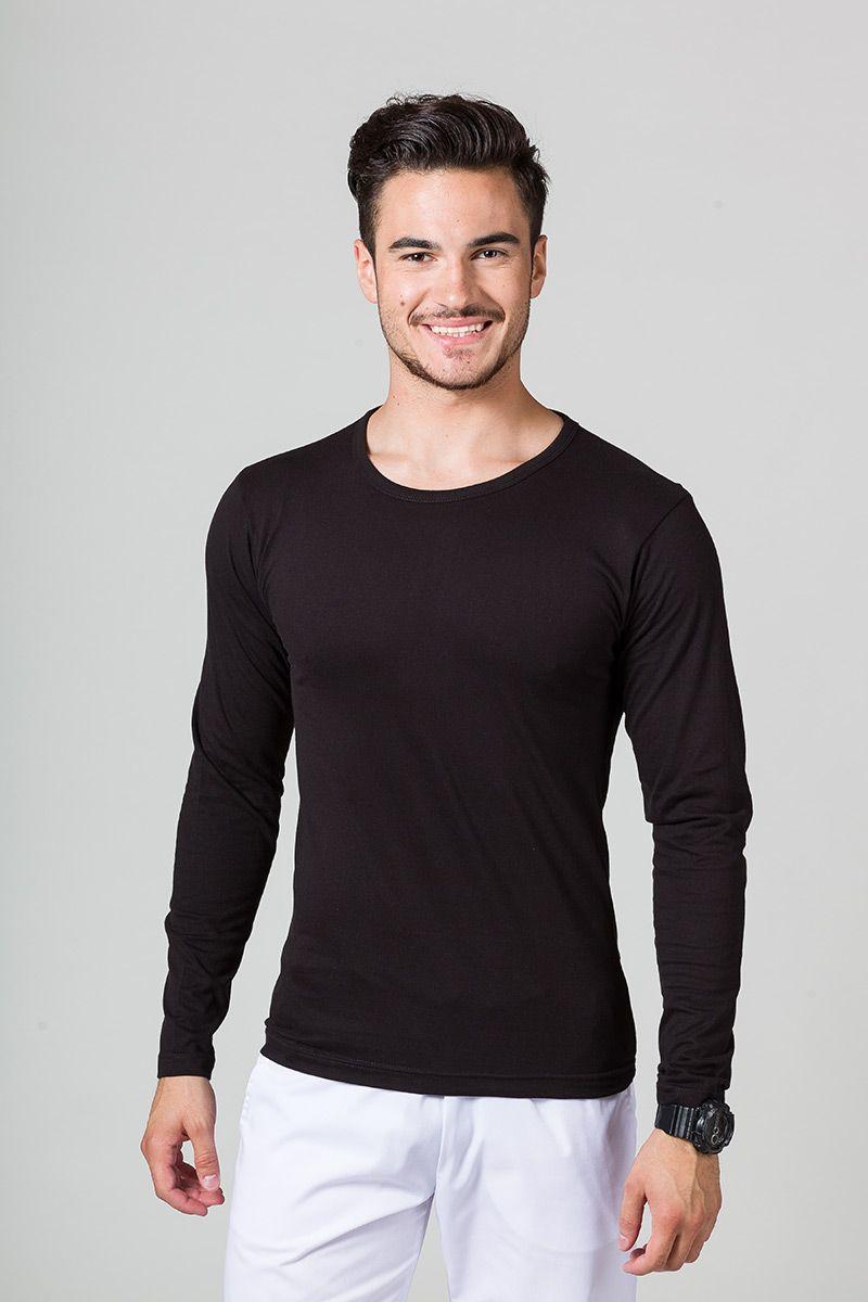 Koszulka męska z długim rękawem czarna