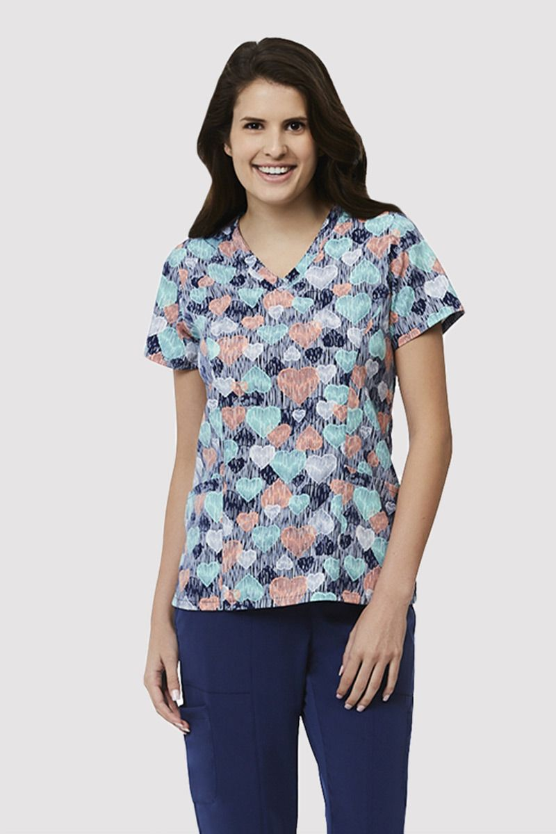 Kolorowa bluza damska Maevn Prints serce za serce