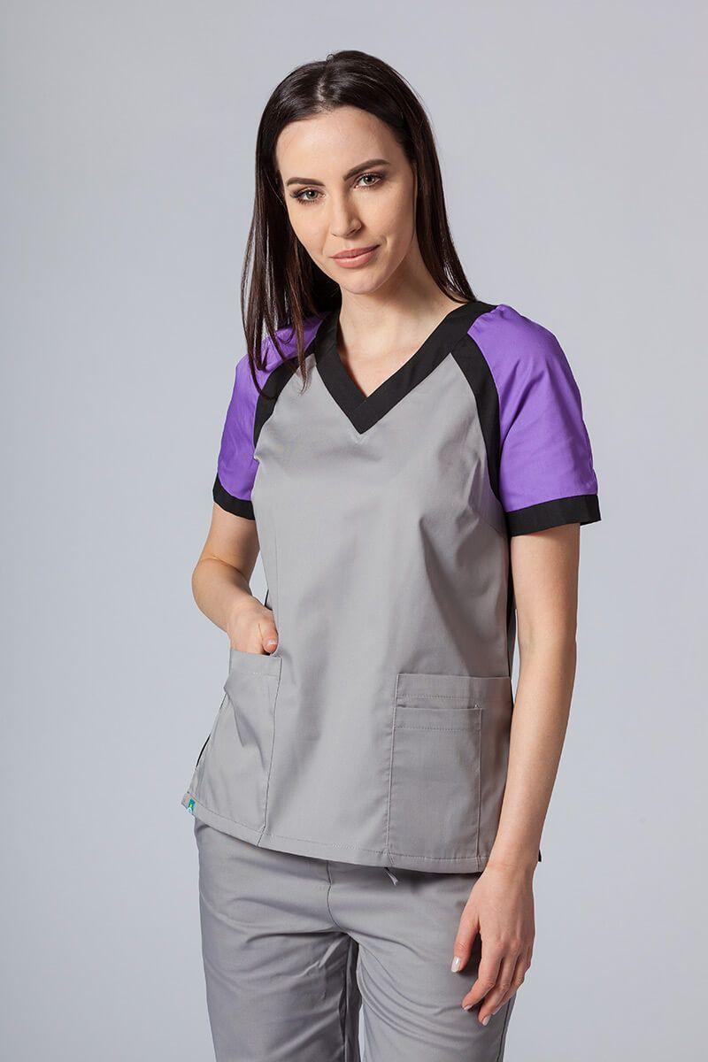 Bluza medyczna damska Sunrise Uniforms Active szara