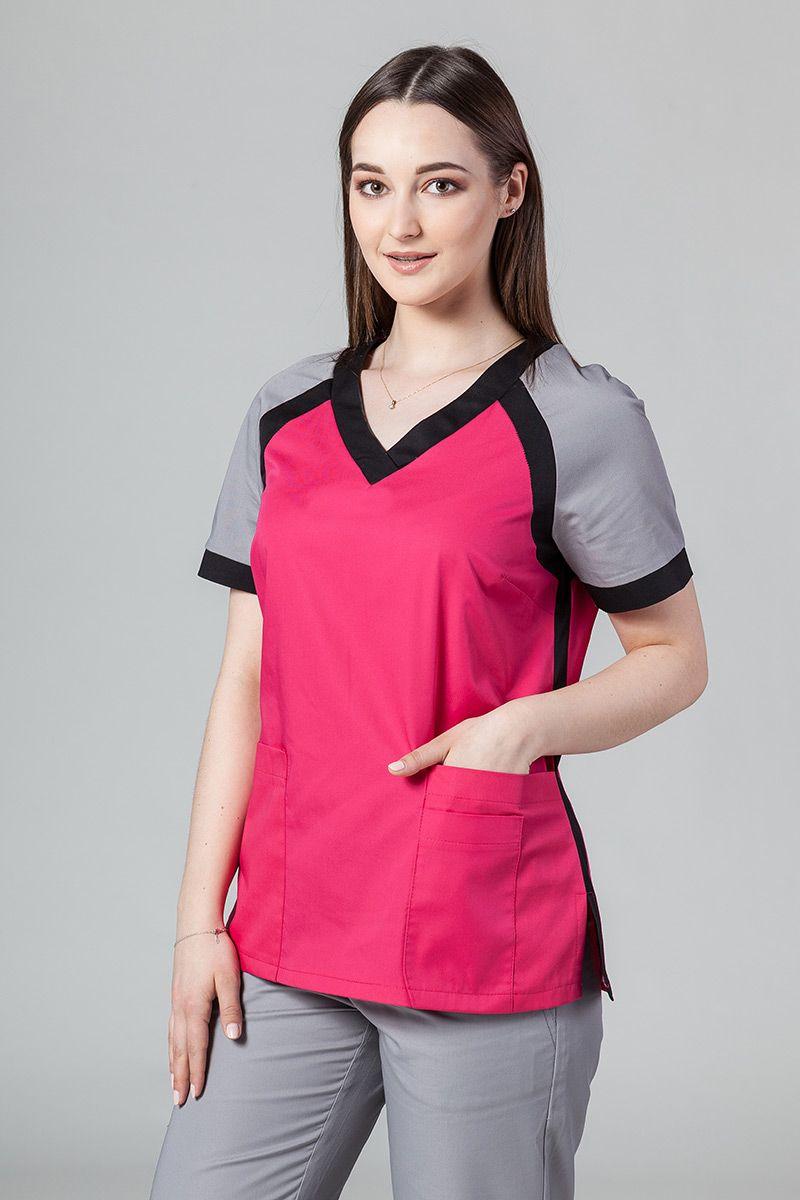 Bluza medyczna damska Sunrise Uniforms Active malinowa