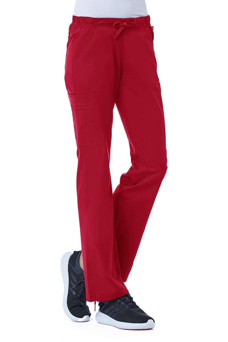 Spodnie medyczne damskie Blossom (elastic) czerwone