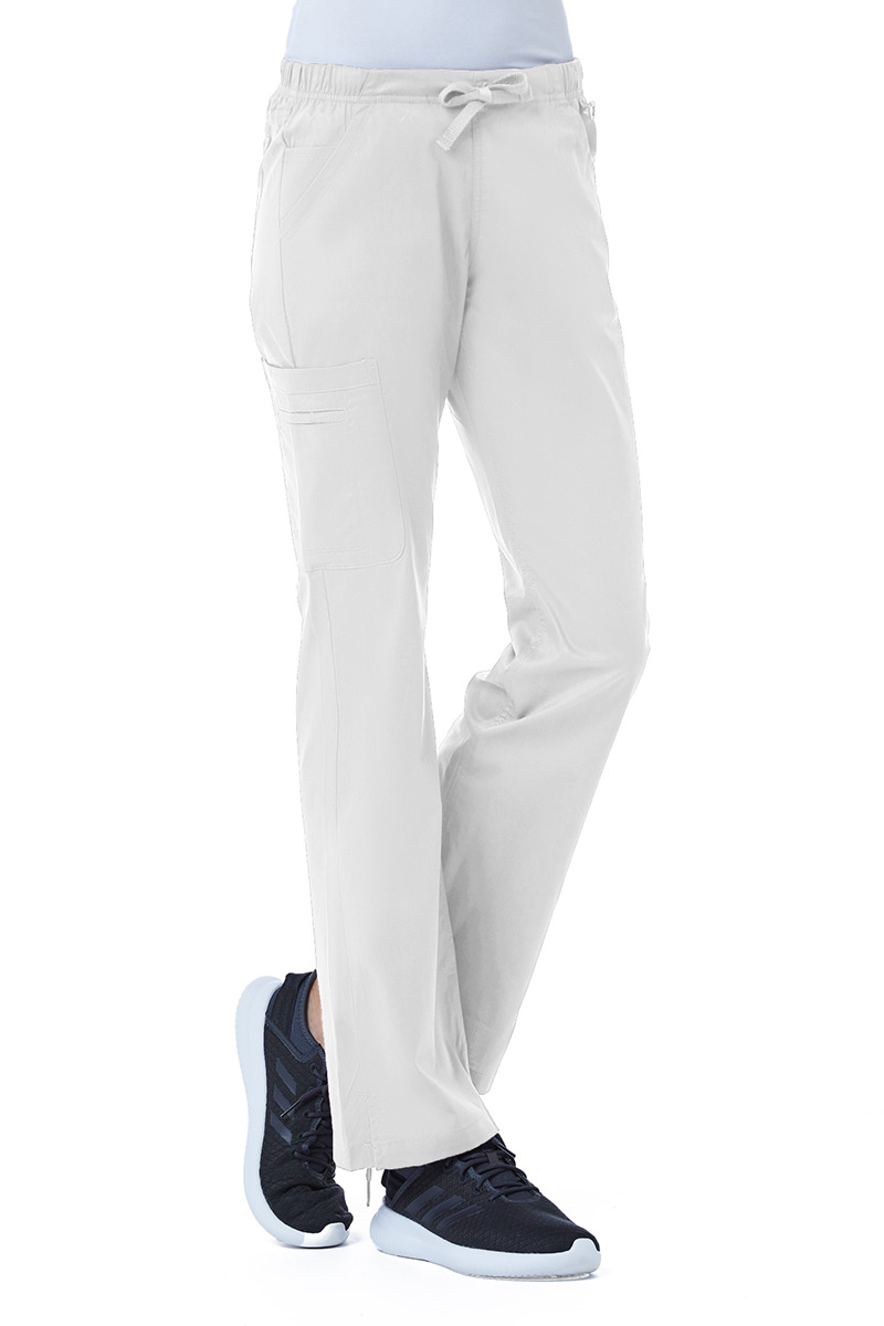 Spodnie medyczne damskie Maevn Blossom (elastic) białe