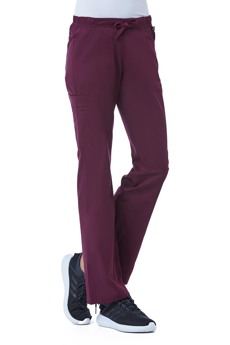 Spodnie medyczne damskie Maevn Blossom (elastic) wiśniowe