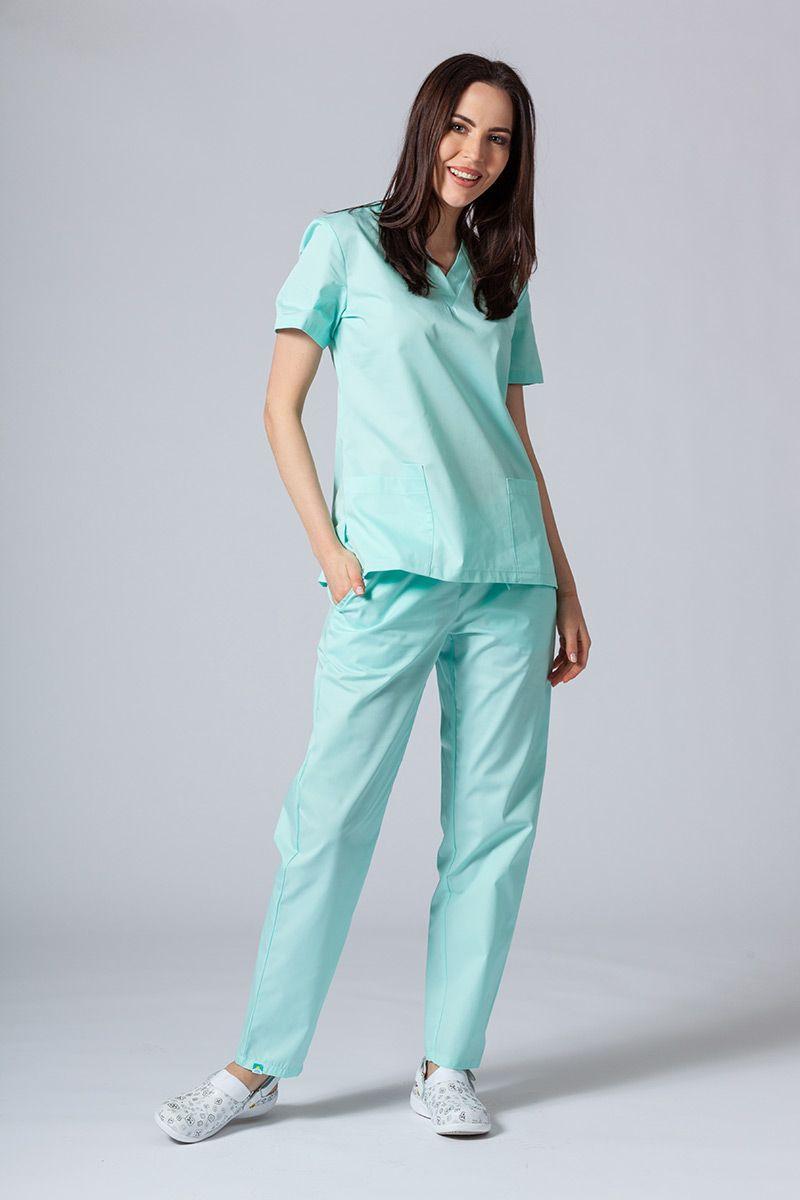 Komplet medyczny Sunrise Uniforms miętowy (z bluzą taliowaną)