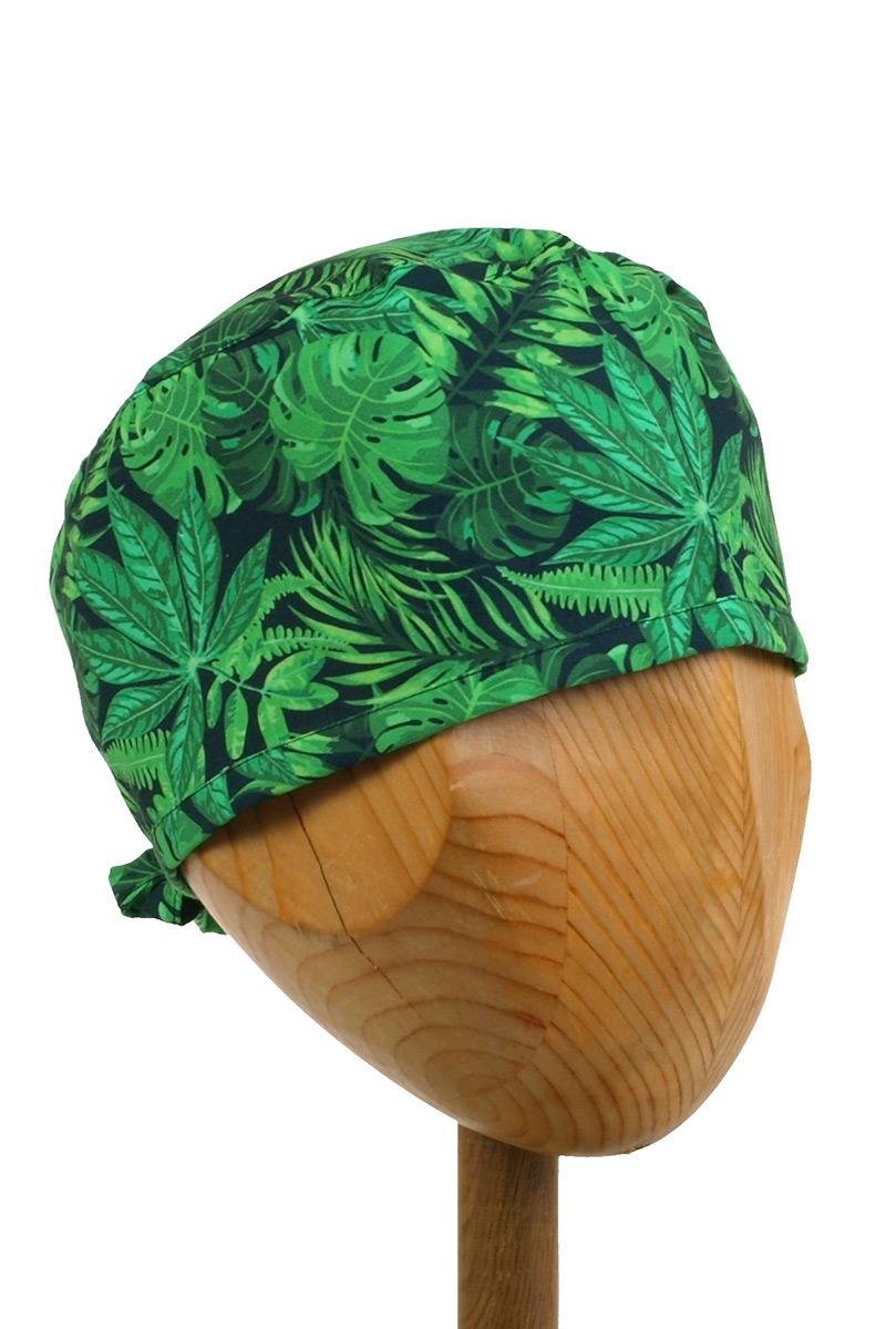 Czepek Sunrise Uniforms Style Unisex zielone liście