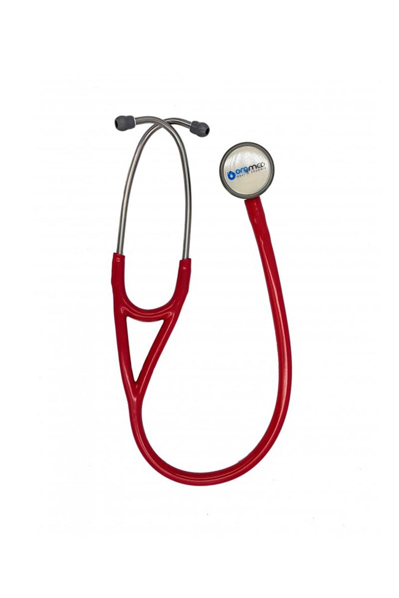 Stetoskop kardiologiczny Oromed, dwustronny - burgundowy