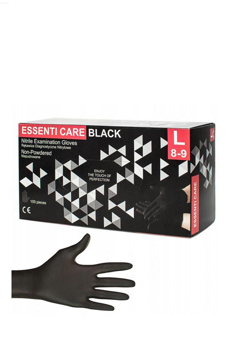 Atestowane rękawice nitrylowe Essenti Care, bezpudrowe, czarne, Deklaracja Zgodności