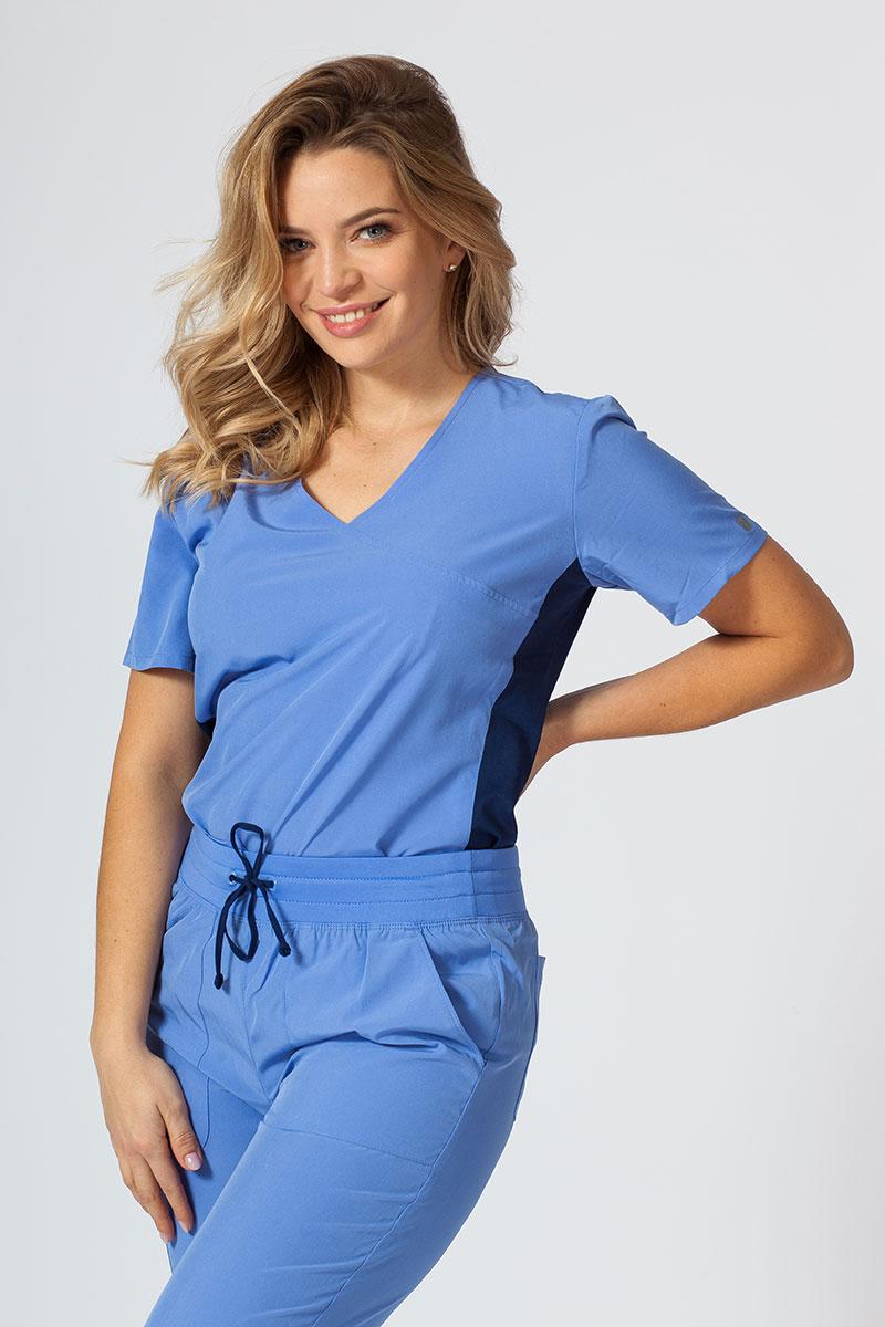 Bluza damska Maevn Matrix Impulse Asymetric klasyczny błękit