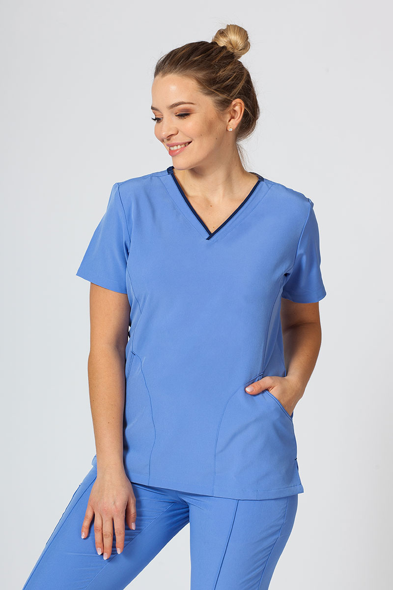 Bluza damska Maevn Matrix Impulse klasyczny błękit