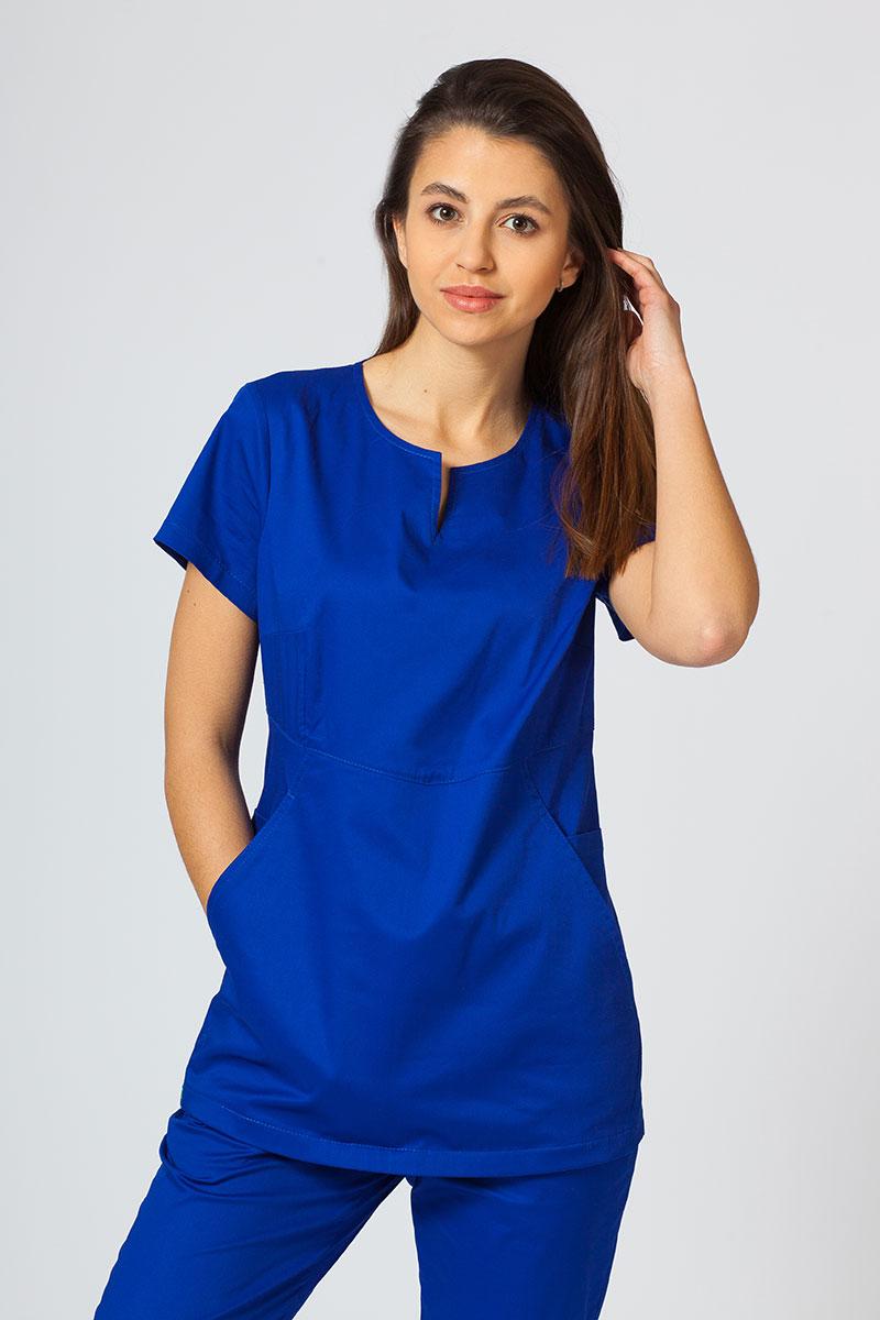 Bluza medyczna damska Sunrise Uniforms Kangaroo (elastic) granatowa