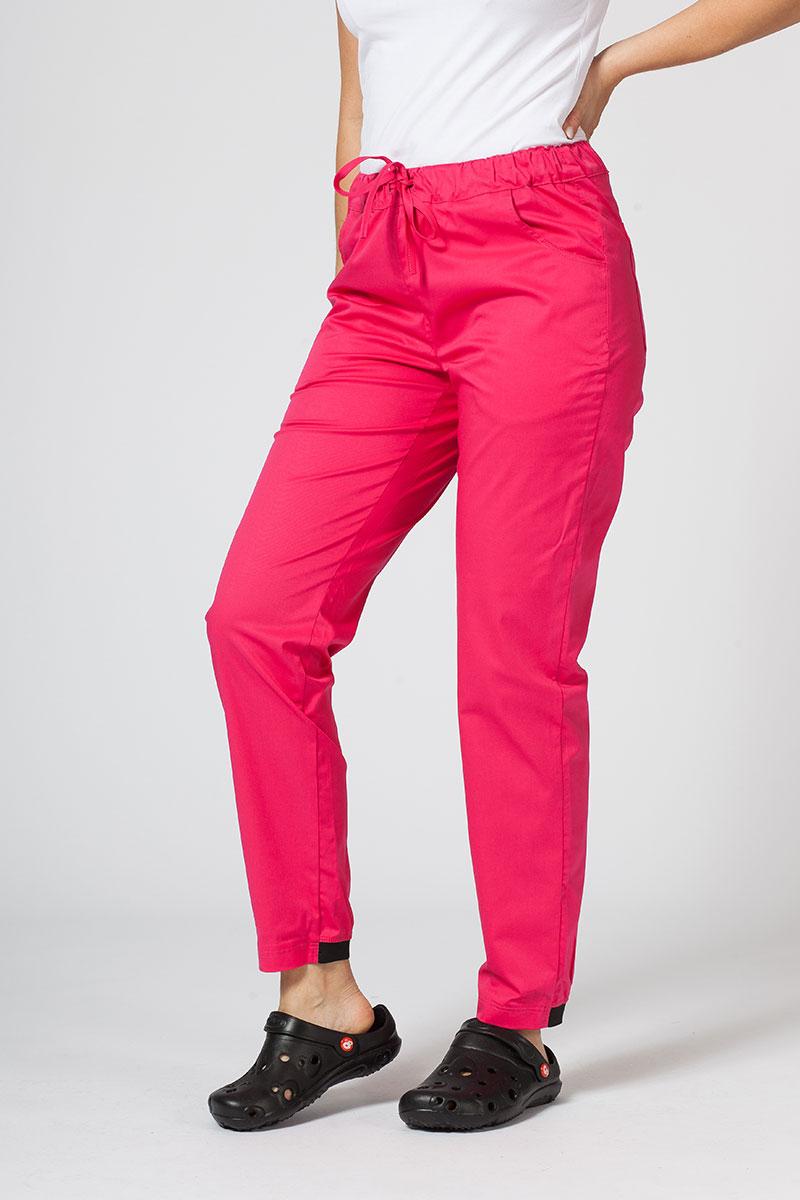 Spodnie medyczne Sunrise Uniforms Active (elastic) malinowe