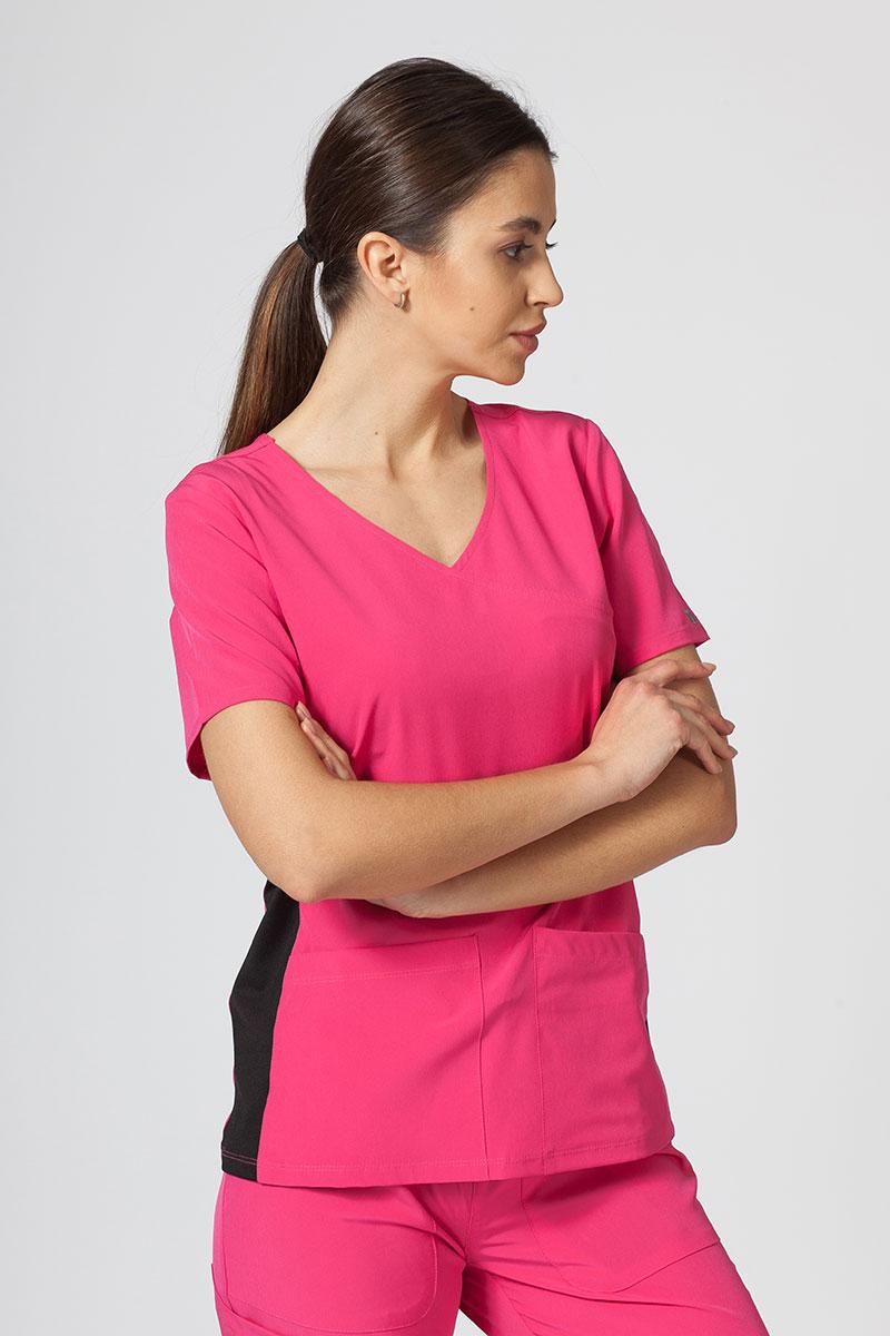 Bluza damska Maevn Matrix Impulse Asymetric różowa