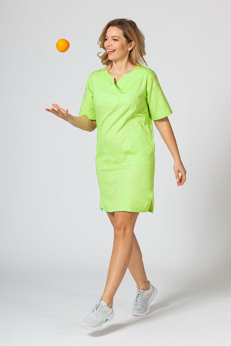 Sukienka medyczna damska klasyczna Sunrise Uniforms limonka