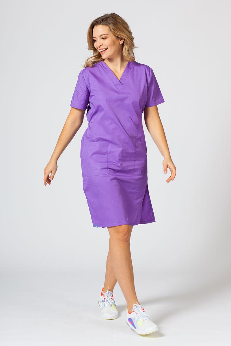 Sukienka medyczna damska prosta Sunrise Uniforms fioletowa