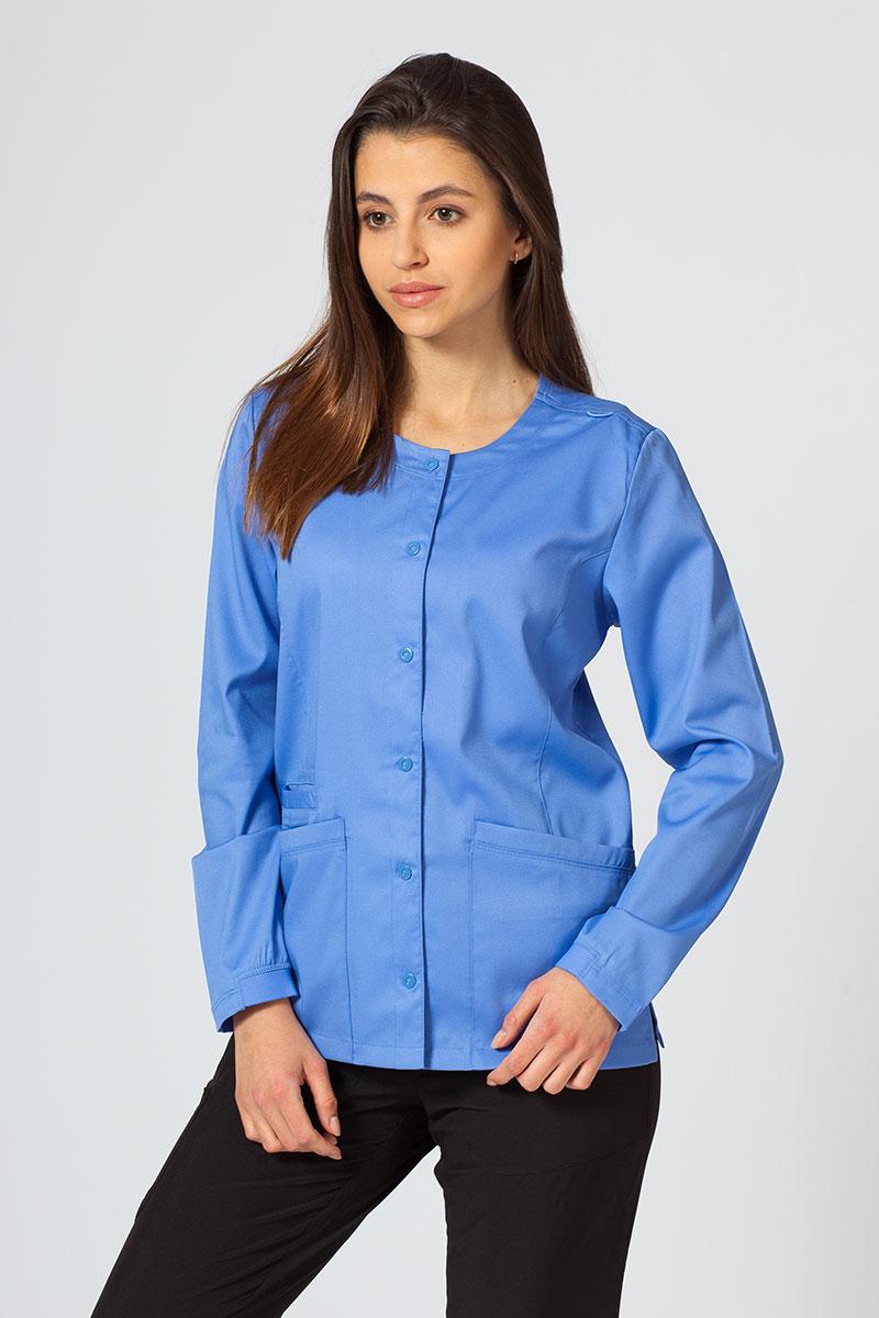 Bluza damska rozpinana Maevn Matrix klasyczny błękit