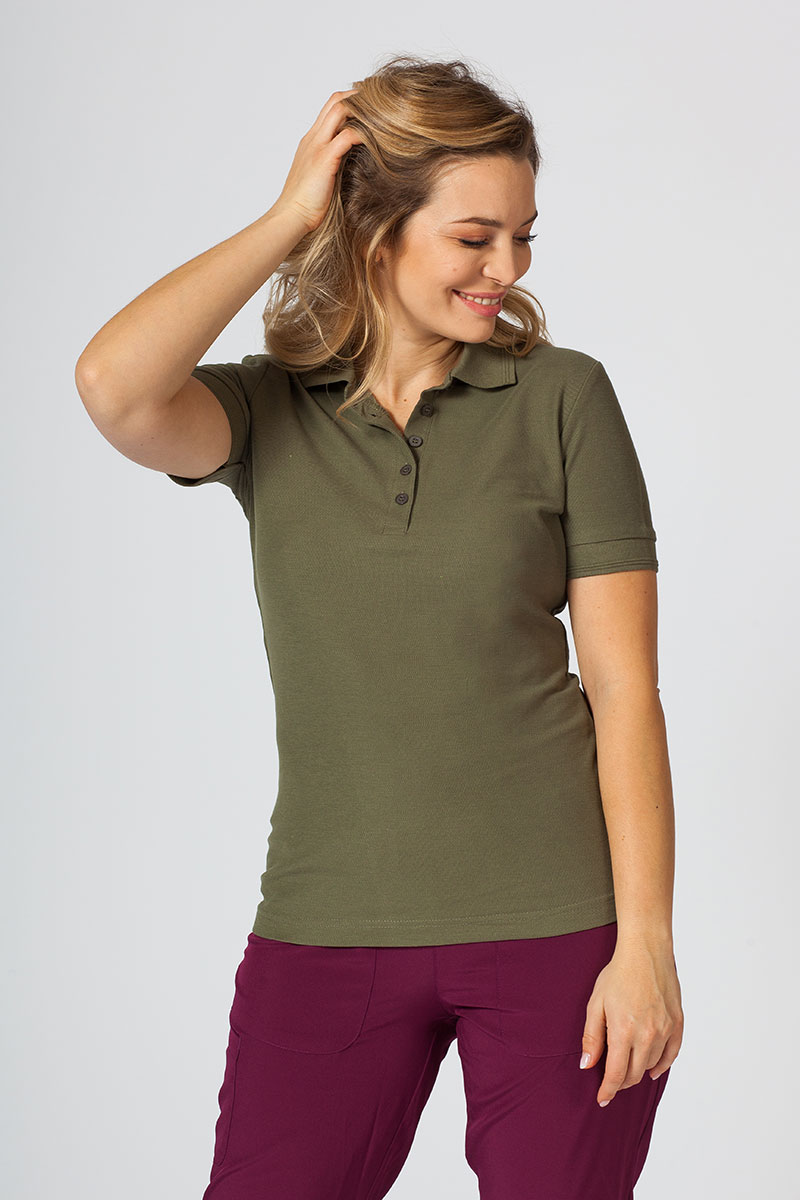 Koszulka damska Polo khaki