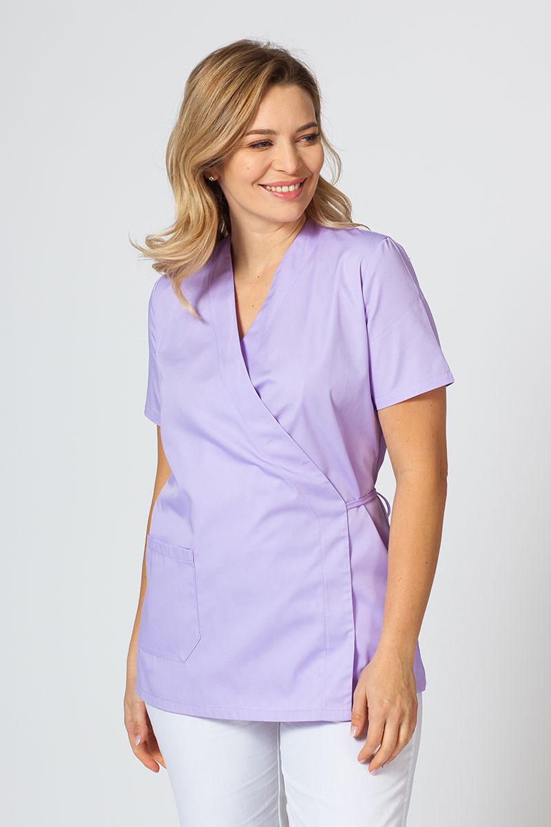 Fartuszek/bluza damska wiązana Sunrise Uniforms lawenda