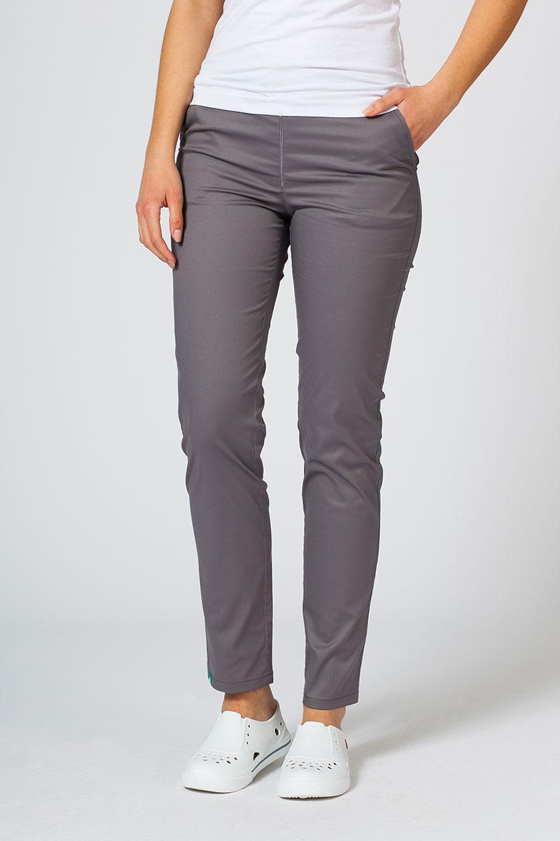 Spodnie medyczne damskie Sunrise Uniforms Slim (elastic) szare
