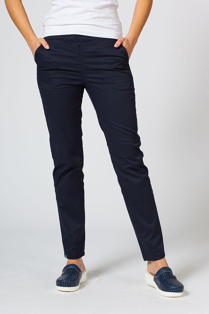 Spodnie medyczne damskie Sunrise Uniforms Slim (elastic) ciemny granat