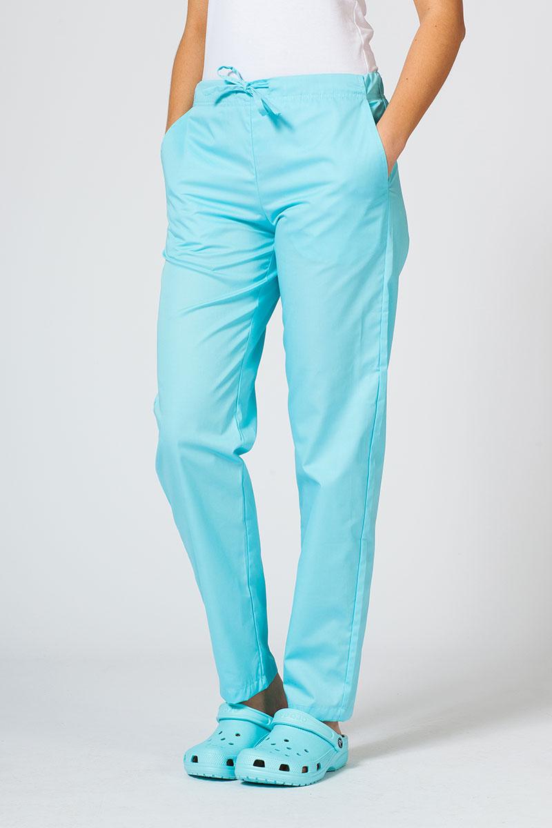 Spodnie medyczne uniwersalne Sunrise Uniforms aqua